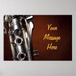 Poster del Clarinet con el mensaje personalizado
