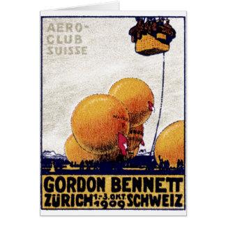 Poster del club de la aviación de 1909 suizos felicitacion