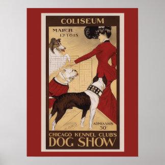 Poster del club de la perrera de Chicago