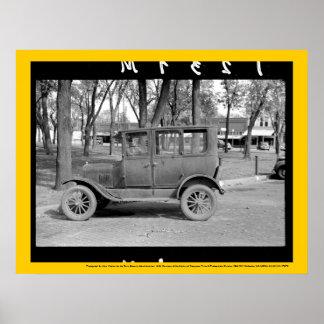 Poster del coche antiguo póster