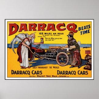 Poster del coche de carreras del vintage: Anuncio