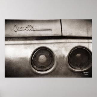 Poster del coche del músculo del vintage