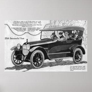 Poster del coche del vintage de Haynes