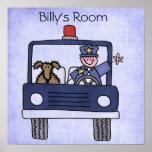 Poster del coche policía