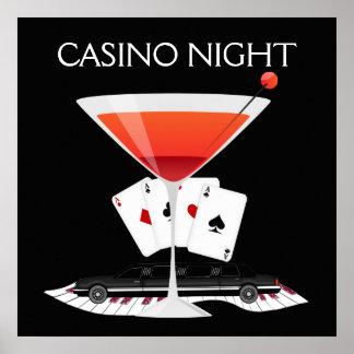 Poster del cóctel de la noche del casino - SRF