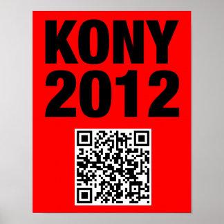Poster del código de Kony 2012 QR