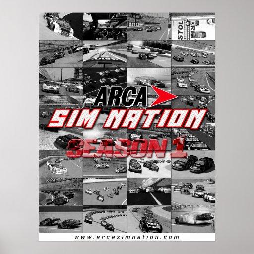 Poster del collage de la estación 1 de la nación d