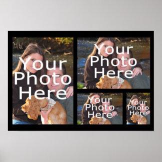 Poster del collage de la foto, cuatro imágenes