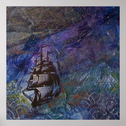 Poster del collage de la nave