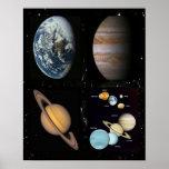 Poster del collage de los planetas