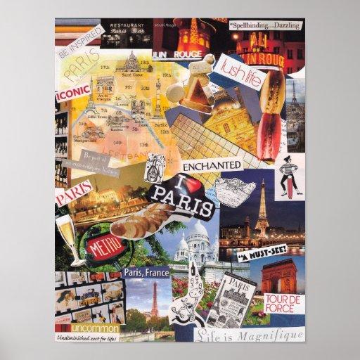 Poster del collage de París
