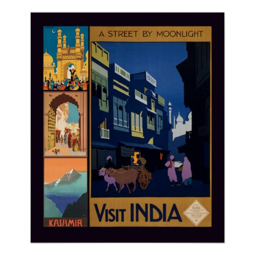 Poster del collage del poster del viaje de la Indi