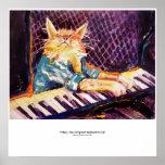 poster del color del gato del teclado