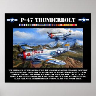 Poster del combatiente del rayo P-47