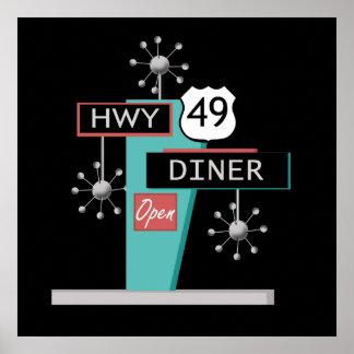 Poster del comensal de HWY 49
