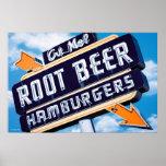 Poster del comensal de la cerveza de raíz