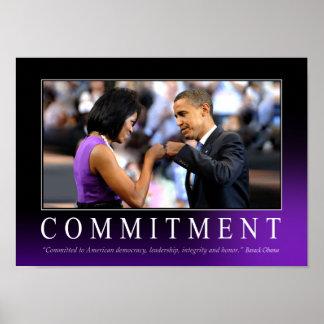 Poster del compromiso (topetón del puño de Obama)