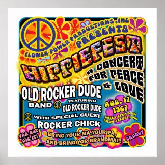 Poster del concierto de Hippiefest
