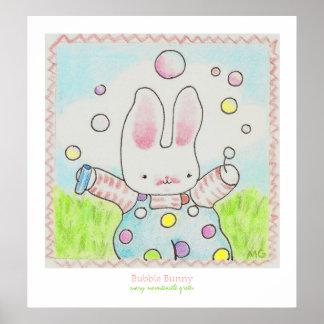 Poster del conejito de la burbuja