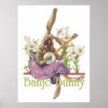 Poster del conejito del banjo