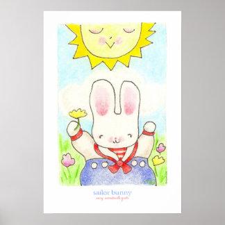 Poster del conejito del marinero