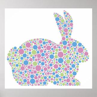 Poster del conejo de conejito de los lunares