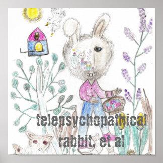 Poster del conejo de Telepsychopathical