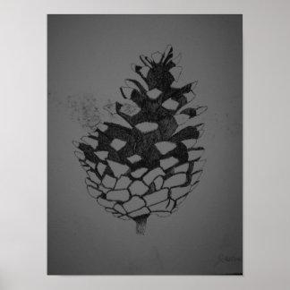 Poster del cono del pino