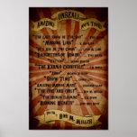Poster del contenido del acto secundario