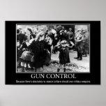 Poster del control de armas