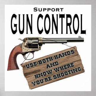 Poster del control de armas póster