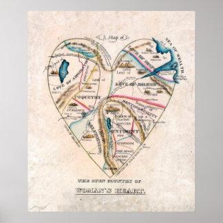 Poster del corazón de una mujer