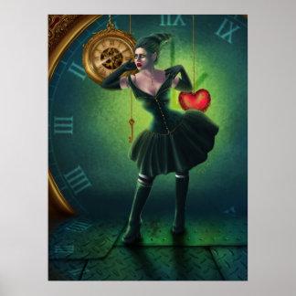 Poster del corazón del mecanismo