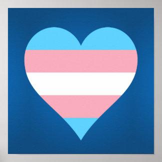 Poster del corazón del orgullo del transexual