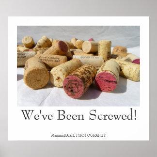 ¡Poster del corcho del vino de la diversión! Póster