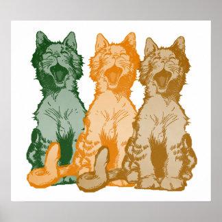 Poster del coro del gato callejero de Mewsical del