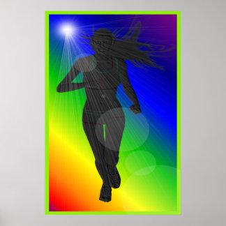 Poster del corredor de la señora arco iris de la s