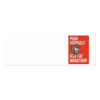 Poster del corredor de maratón del funcionamiento  tarjetas de visita