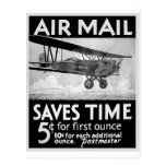 Poster del correo aéreo postal