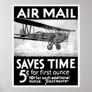 Poster del correo aéreo - vintage
