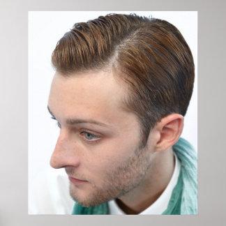 Poster del corte de pelo de los hombres modernos