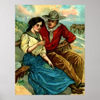 Poster del cortejo del vaquero