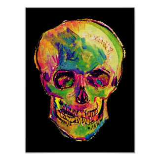 Poster del cráneo del arte pop de Van Gogh
