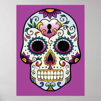 Poster del cráneo del azúcar