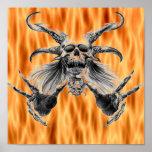 poster del cráneo del demonio
