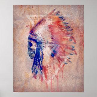 Poster del cráneo del nativo americano
