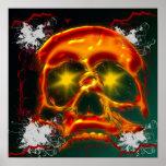 Poster del cráneo que brilla intensamente