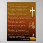 Poster del cristiano de las beatitudes