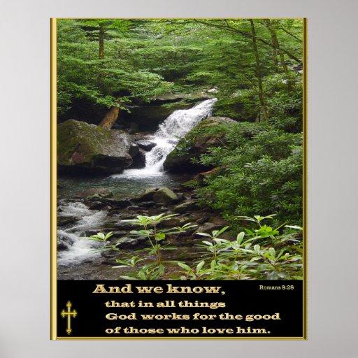 poster del cristiano del 8:28 de los romanos