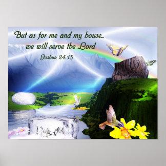 Poster del cristiano del verso de la biblia del 24